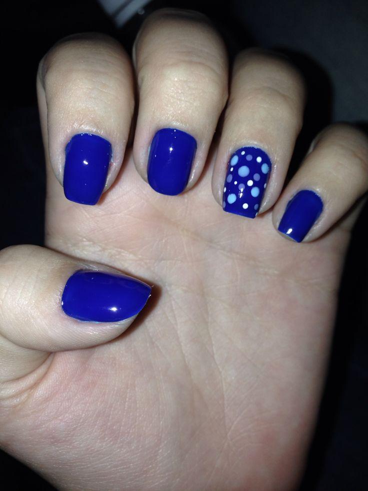 #nail #blue