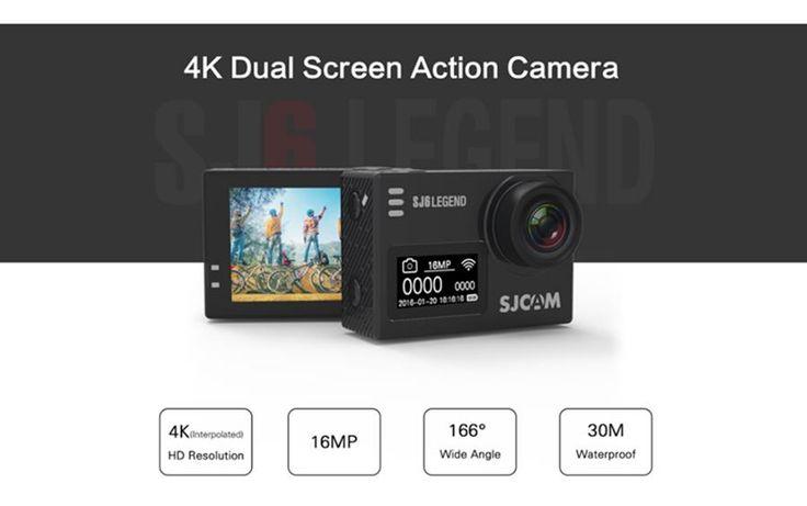 Original SJCAM SJ6 LEGEND 4K interpolated WiFi Action Camera Novatek NTK96660 2.0 inch LTPS   #video #camera  #photo #electronics