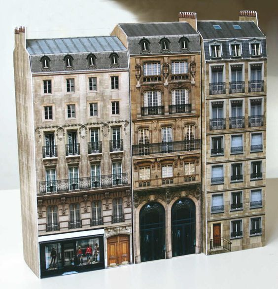 paper buildings models