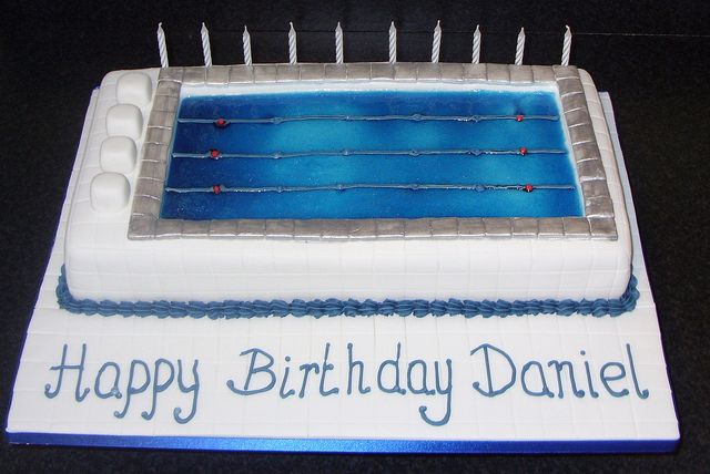 Swimming Pool Cake by kimberley.colley, via Flickr