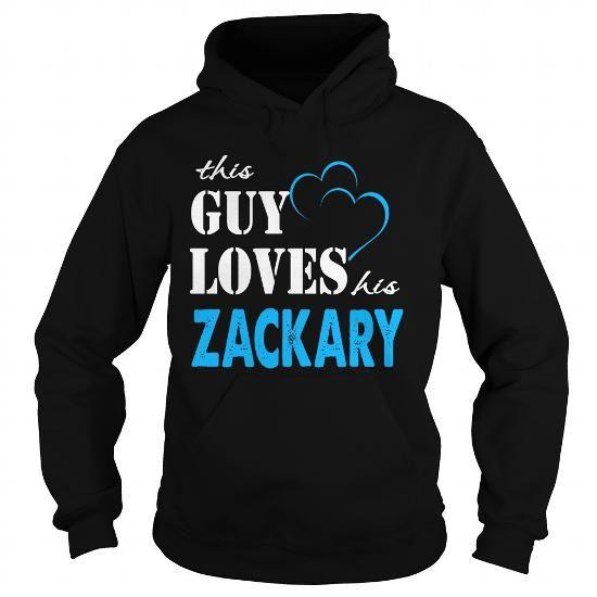 Cool TeeForZackary  Guy Loves Zackary  Loves Zackary Name Shirt  T shirts