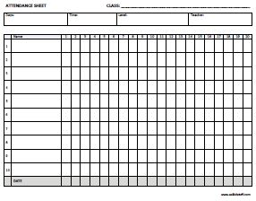 Champlain College Publishing  Attendance Form Templates