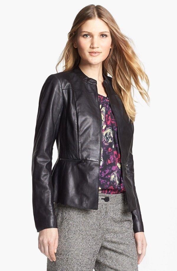 New Women Leather Motorcycle Jacket Biker Genuine Lambskin Zipper Slim MA#155 #Handmade #Motorcycle #Casual