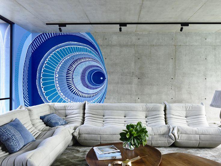 living, mural