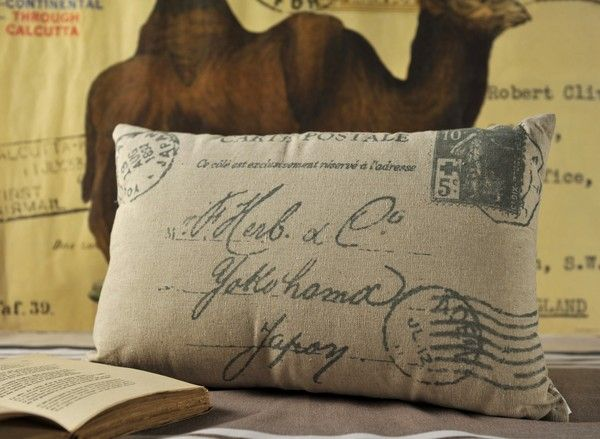 pillow...Awesome for a travel themed room