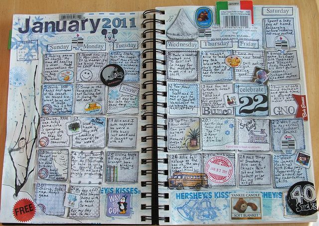 Calendar journaling - 5 minutes before bed. I think I'll start my girls on this in 2013.