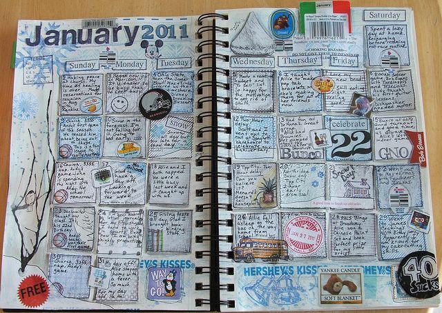 Calendar journaling - 5 minutes before bed.