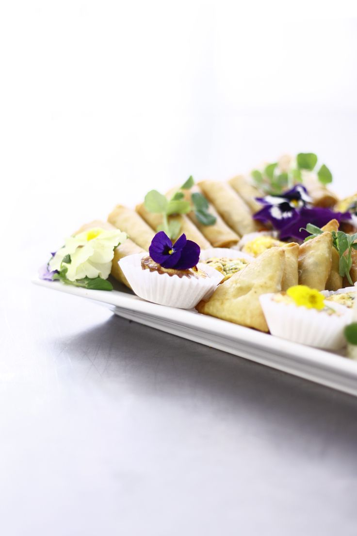 mixed samousa and mini quiche platter 180 degrees catering and confectionery www.180degrees.co.za