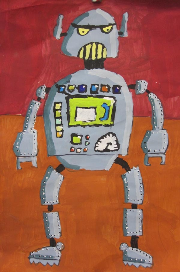 a robot painting from one of my favorite 5th grade artists
