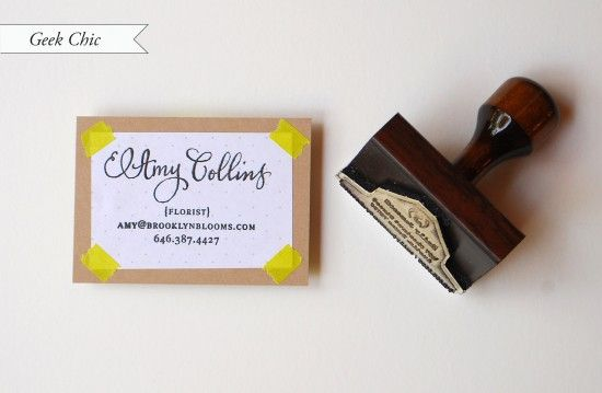Oh So Beautiful Paper: DIY Tutorial: Rubber Stamp Calling Cards