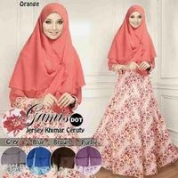 gamis jersey set khimar cerutty