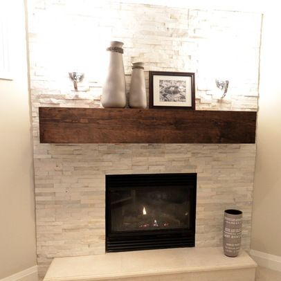 Fireplace stone and wood mantle. Maybe a warmer stone though.