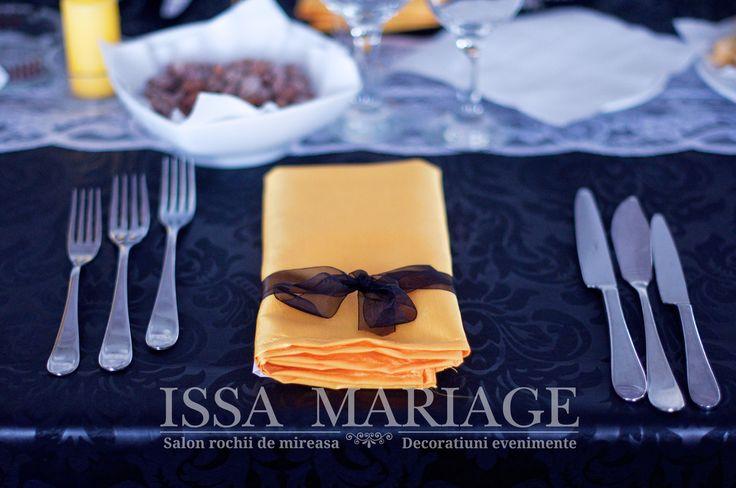 Decoratiuni nunta servet si fundita