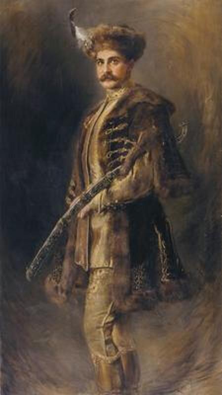 Portrait of Count Elemér Lónyay de Nagylónya et Vásárosnamény (1836-1944) c.1900 by József Koppay  (Hungarian, 1859–1927).....this chap, in all his cerimonial finery, was a Hungarian landowner and privy councillor.....