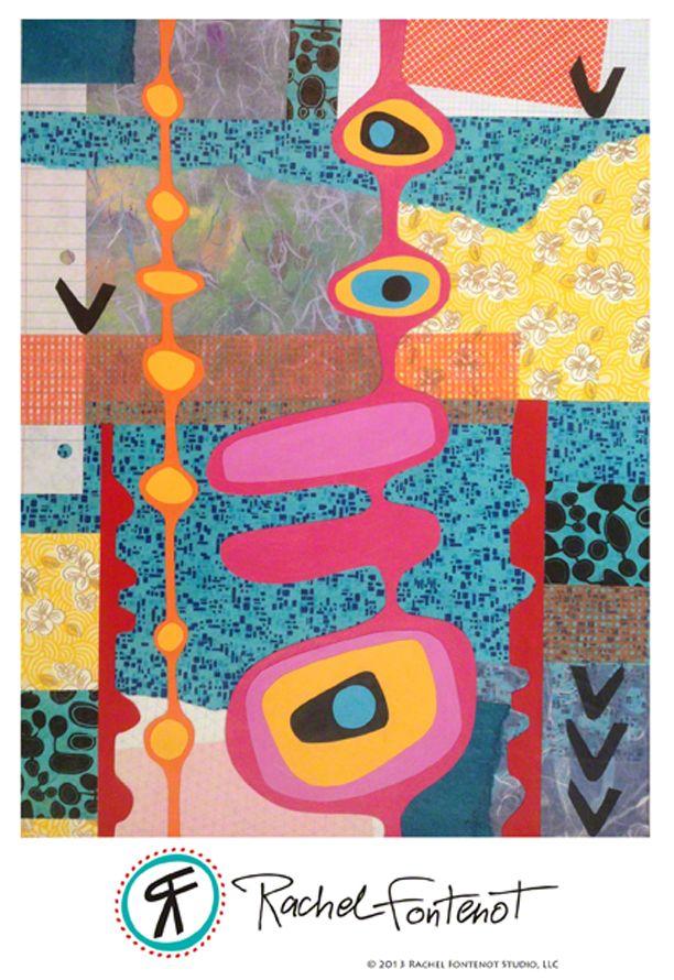 Rachel Fontenot - Growing - mixed media paper collage
