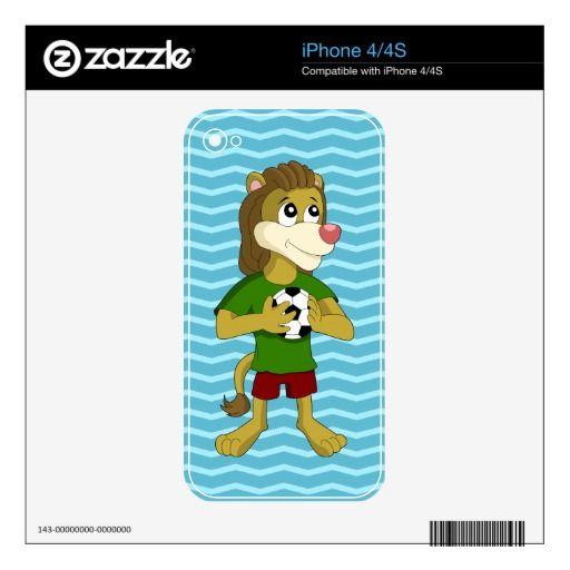 Cute lion cartoon iPhone skin iPhone 4 Decal