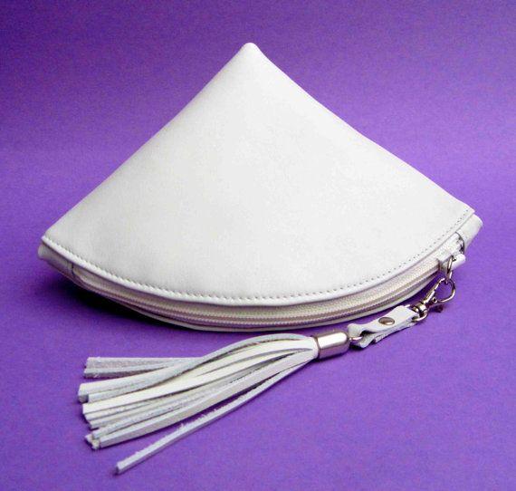 Organizzatore del sacchetto di frizione Qbag Pelle / chiusura lampo / sacchetto / Di rinarts