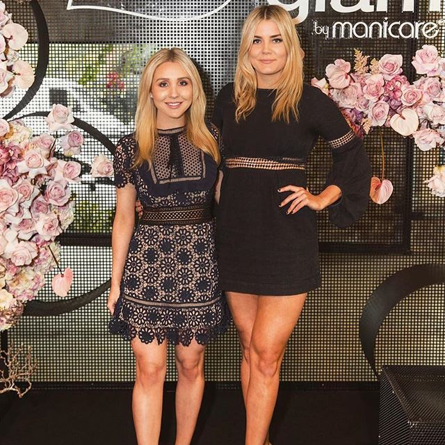 We're loving the gorgeous @hollyasser and @gracegarrick in the @mrselfportrait Louisa Guipure Lace Dress $109 (left) and @ministryofstylethelabel Fleeting Dress in Black $49 ✨  ⠀  #glamcornerau #designerdress #dresshire #rentadress #afterpay #dresshireau