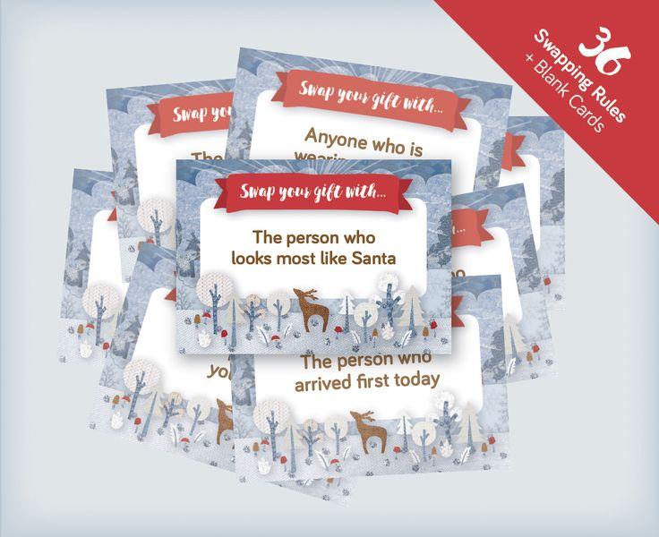 Secret Santa Party Game - printable card game
