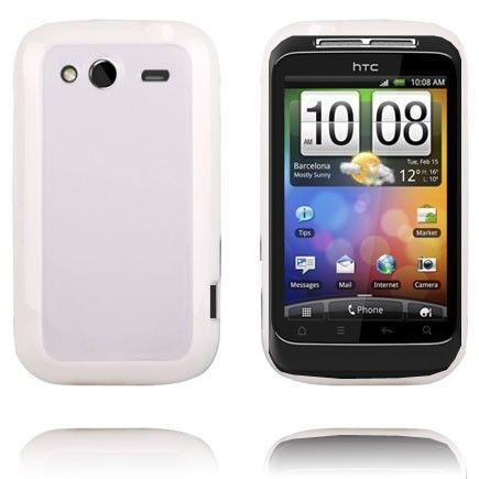 Gjennomsiktig Bakdel (Hvit Kant) HTC Wildfire S Deksel