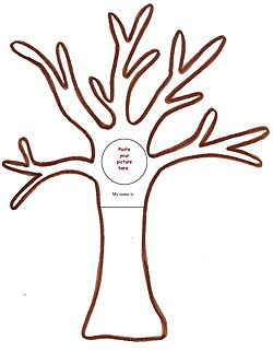 """Free """"Family Tree"""" Craft Template - Pinned by @PediaStaff – Please visit http://ht.ly/63sNt for all (hundreds of) our pediatric therapy pins"""