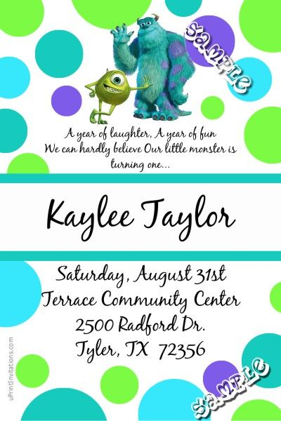 1000+ ideas about Monster Birthday Invitations on ...
