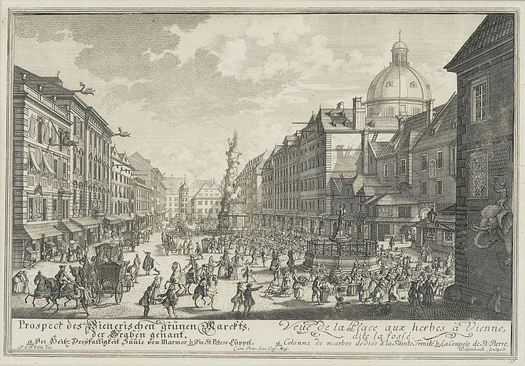 Sophie's Graben, from Chapter 3, with the dome of St Peter's church clearly visible #vienna #books #thrillers #historical #female sleuths