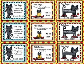 Pete the Cat Freebie You Get What You Get Updated