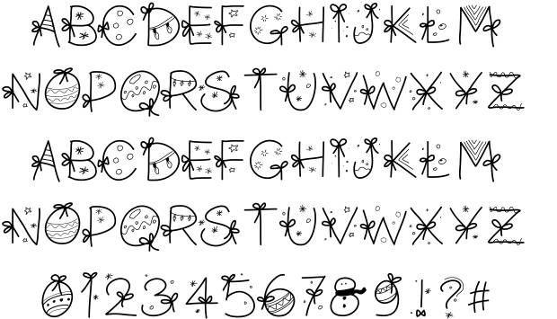 PW Christmas font