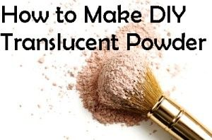 How to Make DIY Translucent Powder with corn starch, green clay and cocoa powder