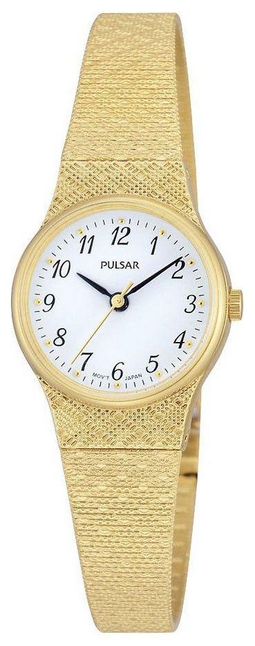 Pulsar Dameshorloge Goudkleurig & Milanese band PK3038X1. Dit model is al jarenlang erg populair. Het horloge is geheel goudkleurig en heeft een witte wijzerplaat. Het horloge is voorzien van een Milanese band en is spat-waterdicht. Een chique en elegant horloge. Dit model heeft dat mooie en sterke Hardlexglas. https://www.timefortrends.nl/horloges/pulsar.html