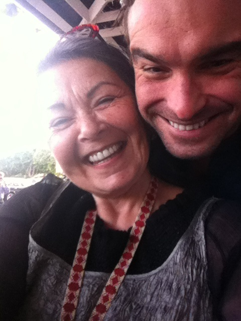 Roseanne Barr and Johnny Galecki...brings a tear to my eye :)