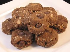 Peanut Butter Carob Chip Dog Cookies  I actually sub the wheat flour with regular flour (due to allergies one of my dog's has) & use a little more carob chips in place of the carob powder. My dogs love this!