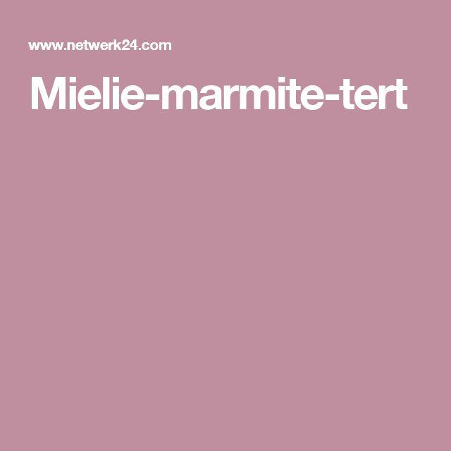 Mielie-marmite-tert