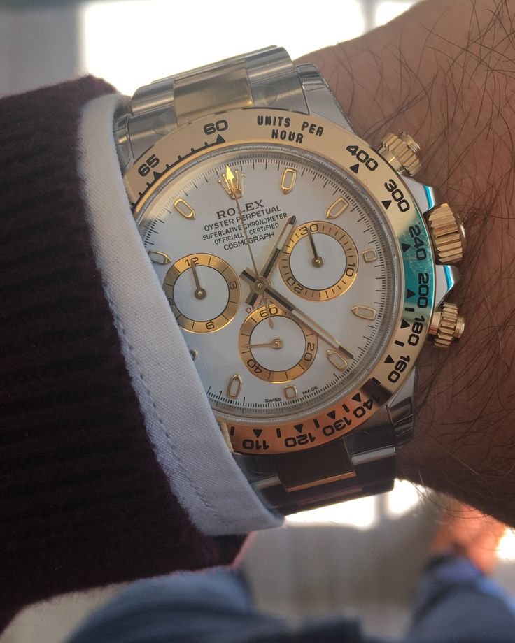 Rolex Daytona Steel & Gold White Dial 116503