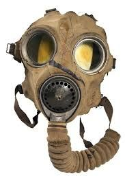 Paul and his fellow soldiers had to wear these very uncomfortable gas masks to protect themselves during an attack.