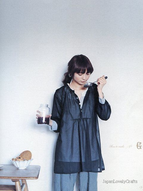 ADULT COUTURE - ONE PIECE DRESS AND TUNIC BLOUSE BY YOSHIKO TSUKIORI, JAPANESE SEWING PATTERN BOOK FOR ADULT WOMEN, NATURAL ONEPIECE 9 | Flickr - Photo Sharing!