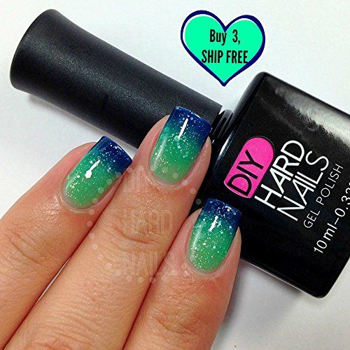 """NEW - """"Paradise"""" Color Changing Gel Polish by DIY Hard Nails. Toxic Free Professional Gel Nail polish. 2 Week No Chip Wear. Get it on Amazon or DIYHardNails.com. Now Shipping Internationally!"""