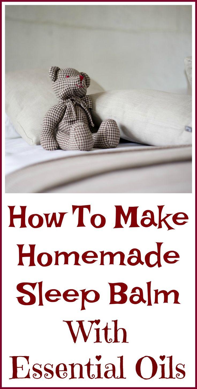 Homemade essential oil sleep balm recipe.