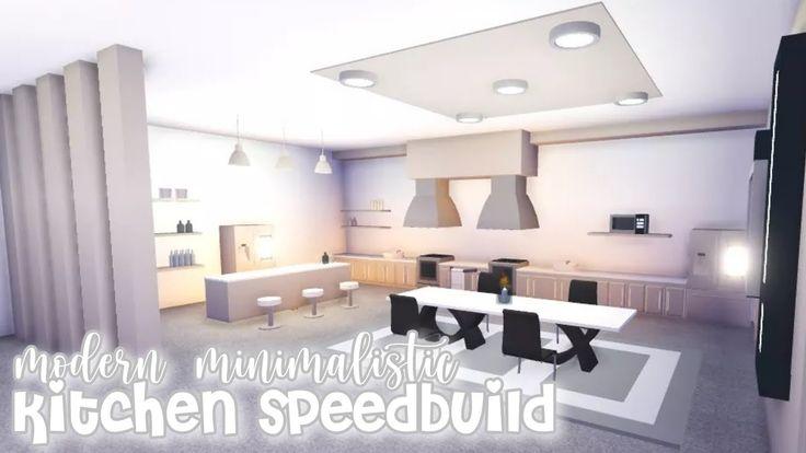 Modern Minimalistic Futuristic House Kitchen Speed Build Roblox Adopt Me Youtube Futuristic Home Kichen Design Simple Bedroom Design