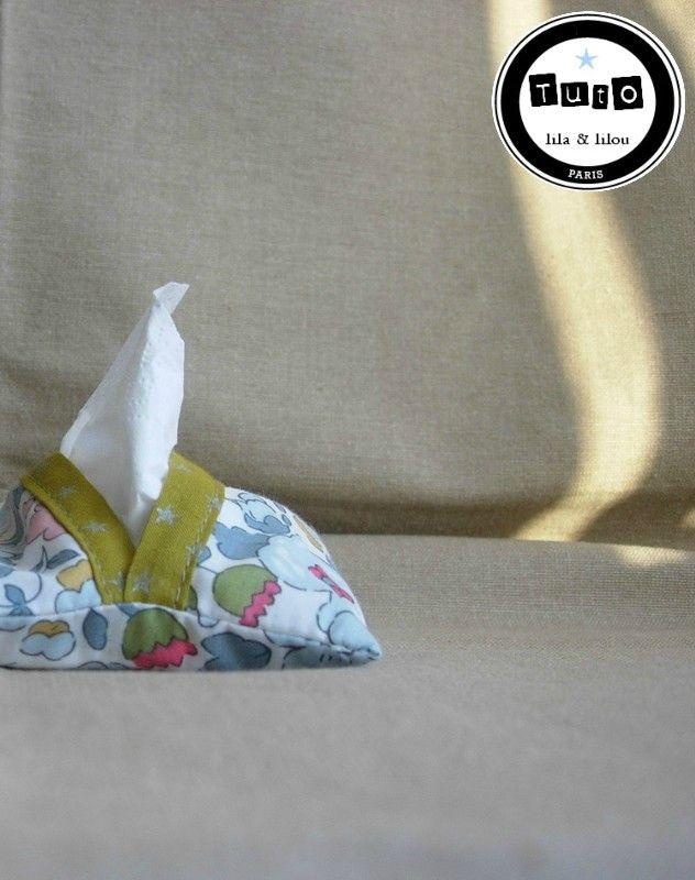 tuto étui mouchoirs papier kleenex liberty betsy tissu france stalla duval étoile gratuit lila et lilou