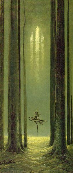 Gothic Forest by Konstantin Vasilyev, 1973 -- Лесная готика Автор: Константин Алексеевич Васильев