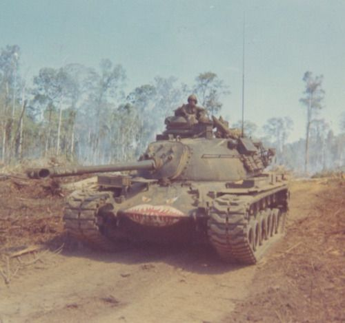 """Wild One 3"" M-48 Patton tank of the 919th Engineer Company."