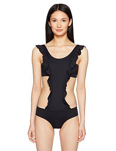 19c7e9506793d OndadeMar Women s Every Day High Neck Ruffle Monokini Swimsuit ...