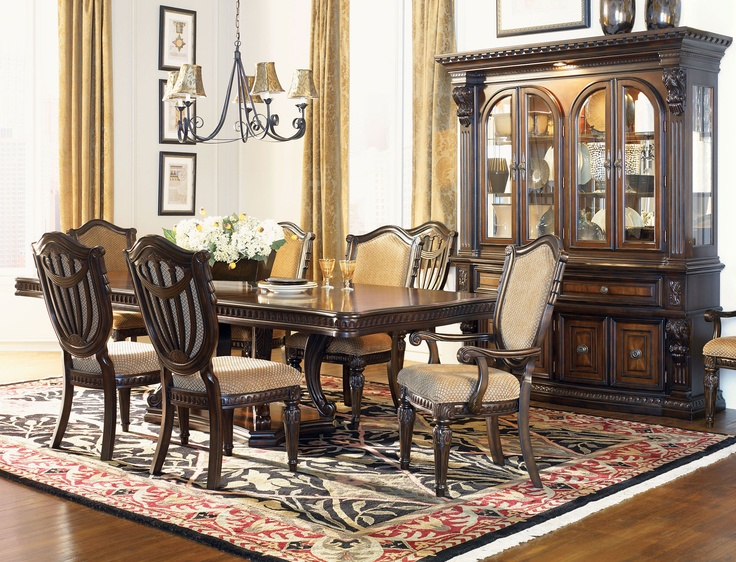 Traditional Wood Dining Tables 131 best dining spaces images on pinterest | dining room sets