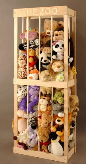 Great idea for all the stuffed animals! I'm not letting my girls collect this…