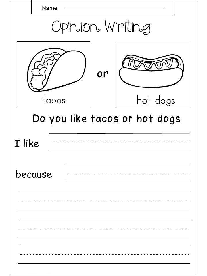3rd Grade Writing Worksheets | 3rd grade writing, Opinion ...