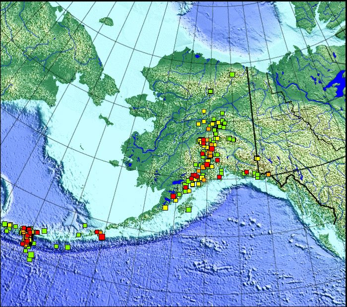 Recent Earthquakes ... A major earthquake was reported off the coast of Alaska on Friday, August 30th at 4:25 p.m.