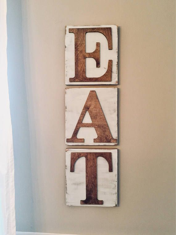 Details This Listing Is For A 3 Pc Set Eat Wall Art Our Eat Wall Art Set Add A Personal And Rustic Vint Rustic Wall Art Blue Dining Room Walls Kitchen