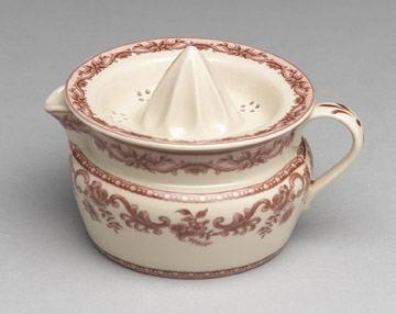 Red White Victorian Style Trnasferware Toile Juicer Reamer | eBay